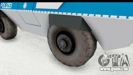 Hermelin TM170 Polizei für GTA San Andreas Rückansicht