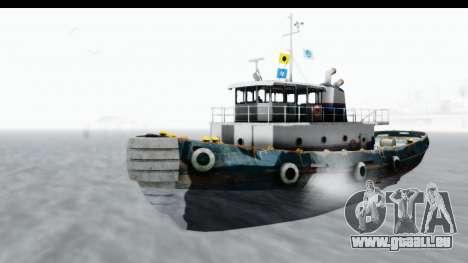 GTA 5 Buckingham Tug Boat v1 pour GTA San Andreas vue de droite