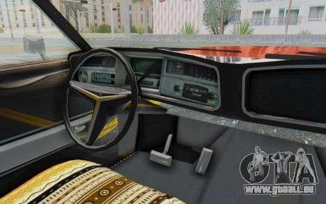 Buick Riviera 1972 Boattail Lowrider für GTA San Andreas Innenansicht