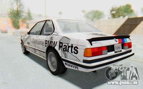 BMW M635 CSi (E24) 1984 HQLM PJ1 für GTA San Andreas obere Ansicht