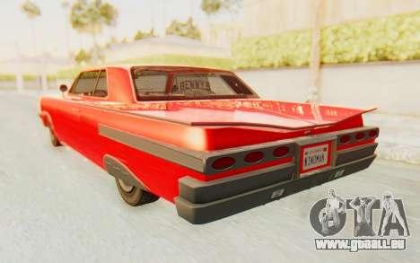 GTA 5 Declasse Voodoo Alternative v2 pour GTA San Andreas sur la vue arrière gauche