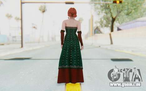 The Witcher 3 - Triss Merigold Dress pour GTA San Andreas troisième écran
