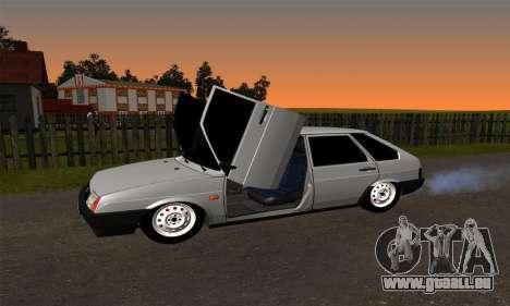 2109 pour GTA San Andreas vue de dessus