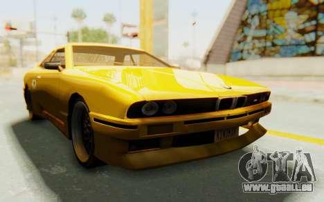 Elegy E30 für GTA San Andreas Rückansicht