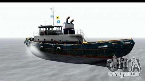 GTA 5 Buckingham Tug Boat v1 pour GTA San Andreas sur la vue arrière gauche