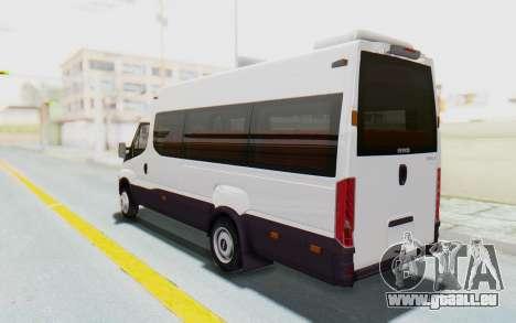 Iveco Daily Minibus 2015 pour GTA San Andreas laissé vue