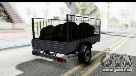 Volkswagen T4 Trailer pour GTA San Andreas sur la vue arrière gauche