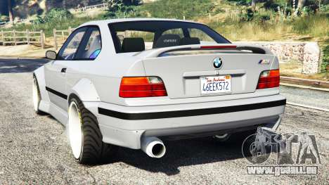 GTA 5 BMW M3 (E36) Street Custom arrière vue latérale gauche