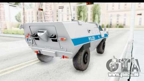 Hermelin TM170 Polizei für GTA San Andreas zurück linke Ansicht