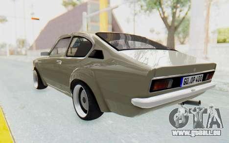 Opel Kadett C Coupe pour GTA San Andreas laissé vue