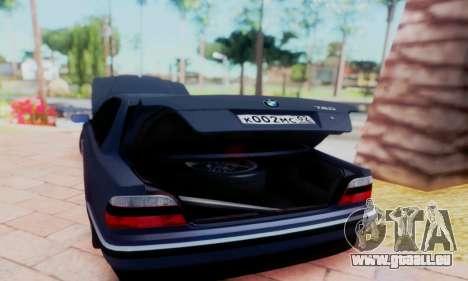 BMW 750 für GTA San Andreas Innenansicht
