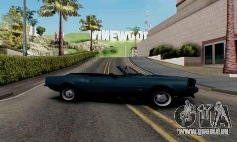 Chevrolet 369 Camaro SS pour GTA San Andreas laissé vue
