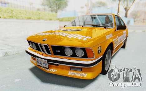 BMW M635 CSi (E24) 1984 HQLM PJ3 pour GTA San Andreas salon