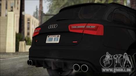 Audi S6 für GTA San Andreas Rückansicht