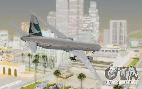 Boeing 777-300ER Cathay Pacific Airways v1 pour GTA San Andreas laissé vue