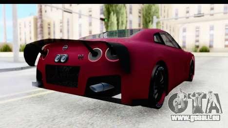 Nissan GT-R R35 Top Speed pour GTA San Andreas sur la vue arrière gauche