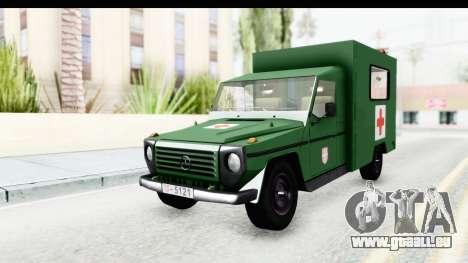 Mercedes-Benz Wolf Vojno Ambulantno Vozilo pour GTA San Andreas vue de droite