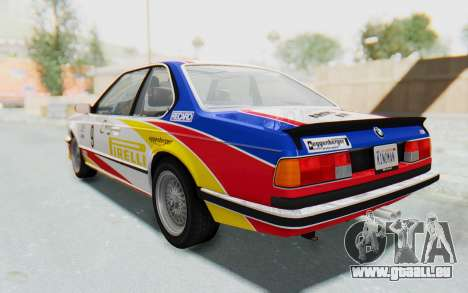 BMW M635 CSi (E24) 1984 HQLM PJ1 für GTA San Andreas Innen