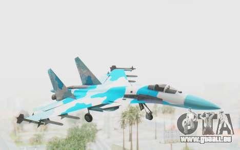 SU-37 American Ornament pour GTA San Andreas sur la vue arrière gauche