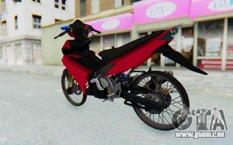 Yamaha Jupiter MX 135 Lock Style pour GTA San Andreas laissé vue