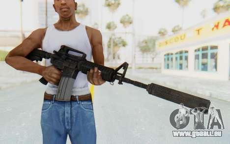 Assault M4A1 Silenced pour GTA San Andreas troisième écran
