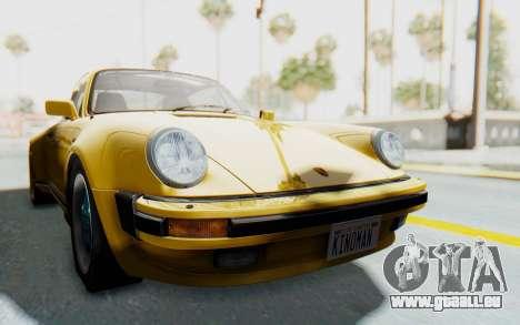 Porsche 911 Turbo 3.2 Coupe (930) 1985 für GTA San Andreas zurück linke Ansicht