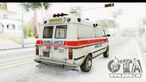 MGSV Phantom Pain Ambulance pour GTA San Andreas vue de droite