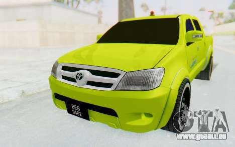 Toyota Hilux Malaysia Airports Green pour GTA San Andreas