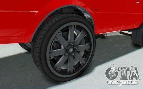 GTA 5 Willard Faction Custom Donk v2 IVF pour GTA San Andreas vue arrière
