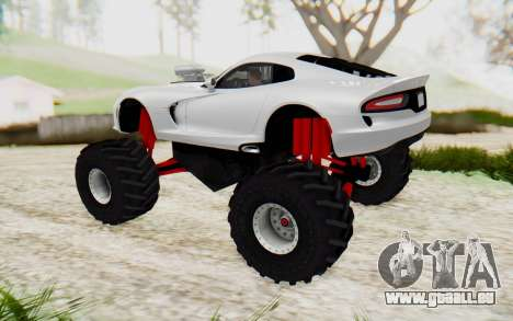 Dodge Viper SRT GTS 2012 Monster Truck für GTA San Andreas linke Ansicht