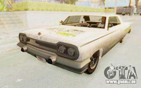 GTA 5 Declasse Voodoo Alternative v2 PJ für GTA San Andreas obere Ansicht