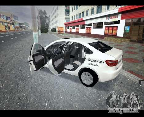 Lada Vesta VESTATEST für GTA San Andreas linke Ansicht
