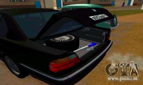 BMW 740i E38 pour GTA San Andreas vue de dessus