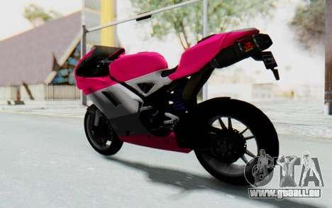Ducati 1098R High Modification für GTA San Andreas linke Ansicht