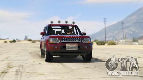 GTA 5 Land Rover Discovery 4 droite vue latérale