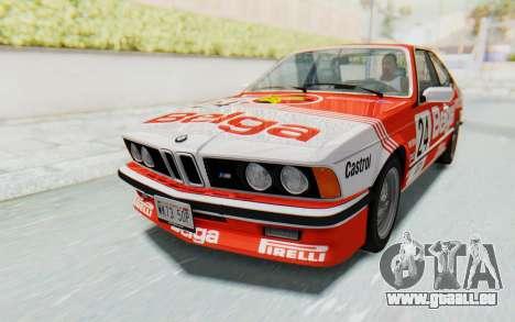 BMW M635 CSi (E24) 1984 HQLM PJ2 pour GTA San Andreas vue de dessous