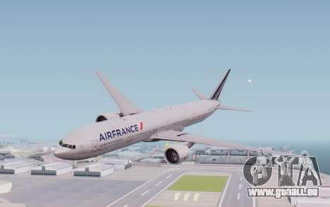 Boeing 777-300ER France Air für GTA San Andreas zurück linke Ansicht