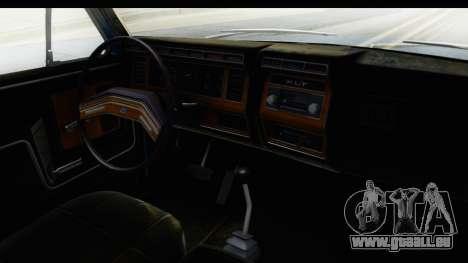 Ford Bronco 1980 pour GTA San Andreas vue intérieure