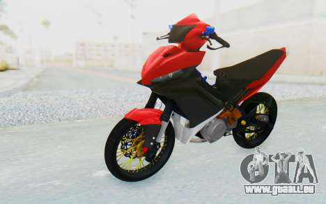 Yamaha Jupiter MX 135 Semi Roadrace pour GTA San Andreas vue de droite