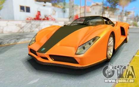 GTA 5 Grotti Cheetah IVF pour GTA San Andreas sur la vue arrière gauche