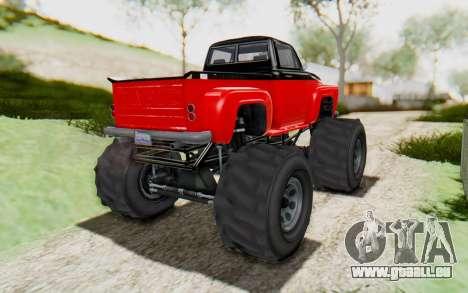 GTA 5 Vapid Slamvan XL v2.1 für GTA San Andreas rechten Ansicht