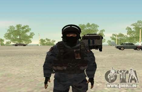 La police anti-émeute-Berkut (Russie) pour GTA San Andreas