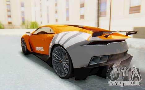 GTA 5 Pegassi Reaper IVF pour GTA San Andreas vue de dessous