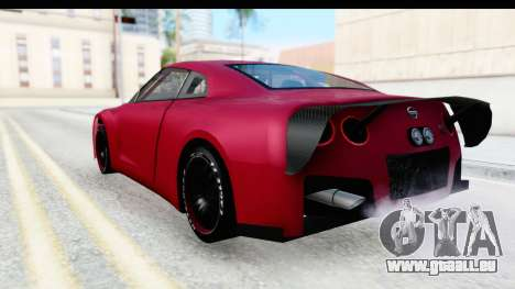 Nissan GT-R R35 Top Speed pour GTA San Andreas laissé vue