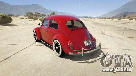 GTA 5 1963 Volkswagen Beetle 1.0.1 hinten links Seitenansicht