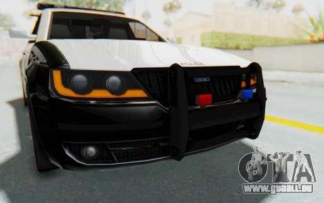 ASYM Desanne XT Pursuit v3 pour GTA San Andreas vue de dessus