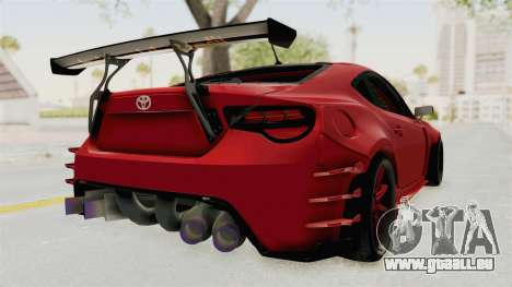 Toyota GT86 Drift Edition für GTA San Andreas zurück linke Ansicht