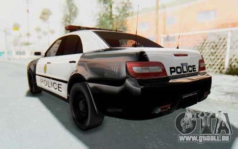 ASYM Desanne XT Pursuit v3 pour GTA San Andreas sur la vue arrière gauche