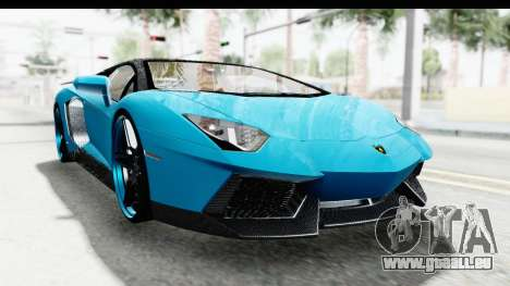 Lamborghini Aventador LP700-4 Novitec Torado für GTA San Andreas Rückansicht