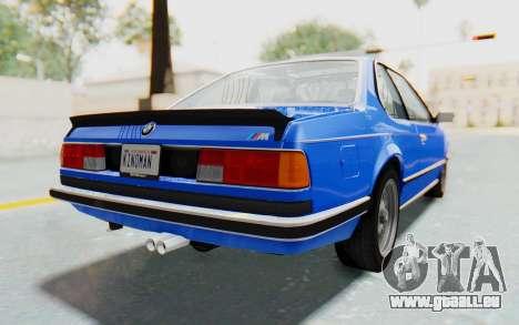 BMW M635 CSi (E24) 1984 HQLM PJ1 für GTA San Andreas linke Ansicht